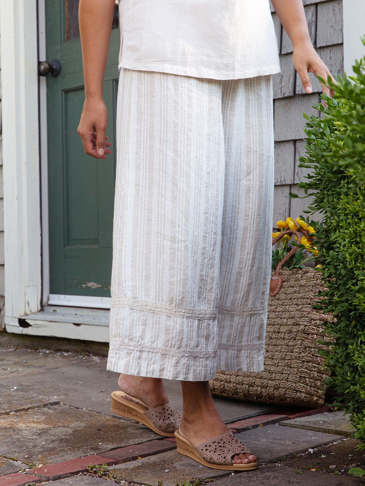Vineyard Linen Stripe Pant