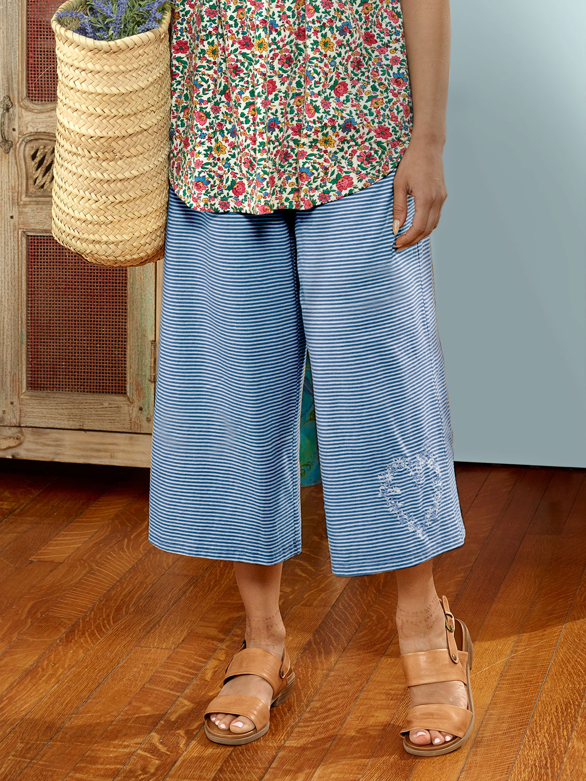 Seaside Stripe Wide Leg Pant