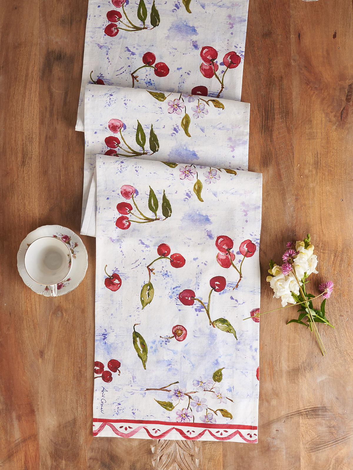 Cherries Table Runner