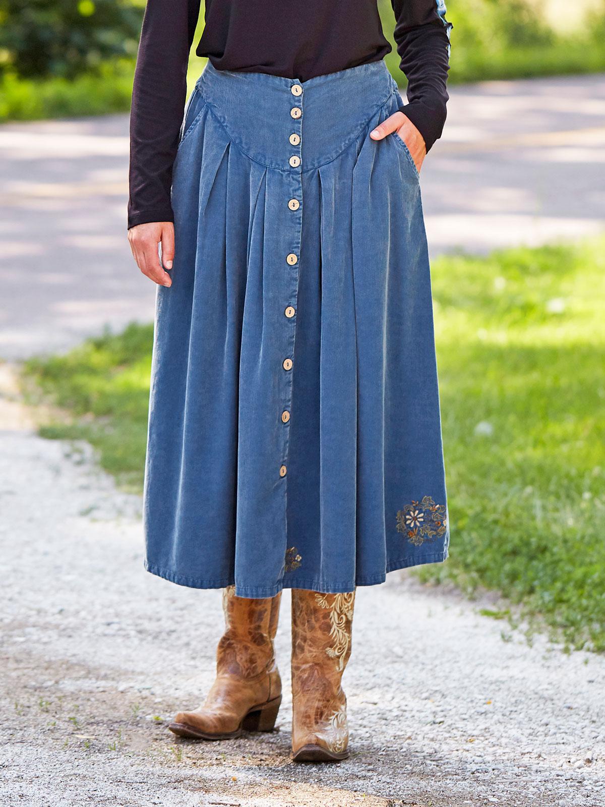 Big Sky Corduroy Skirt
