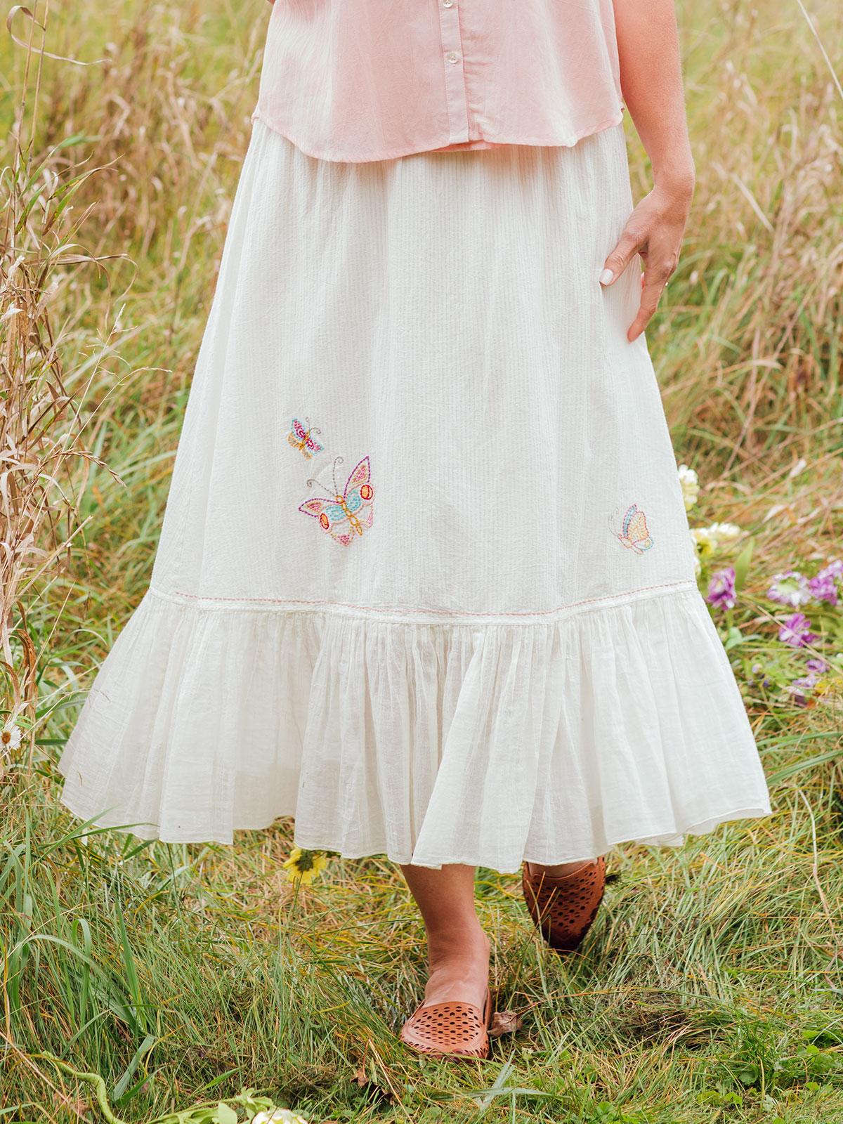 Butterfly Flounce Skirt