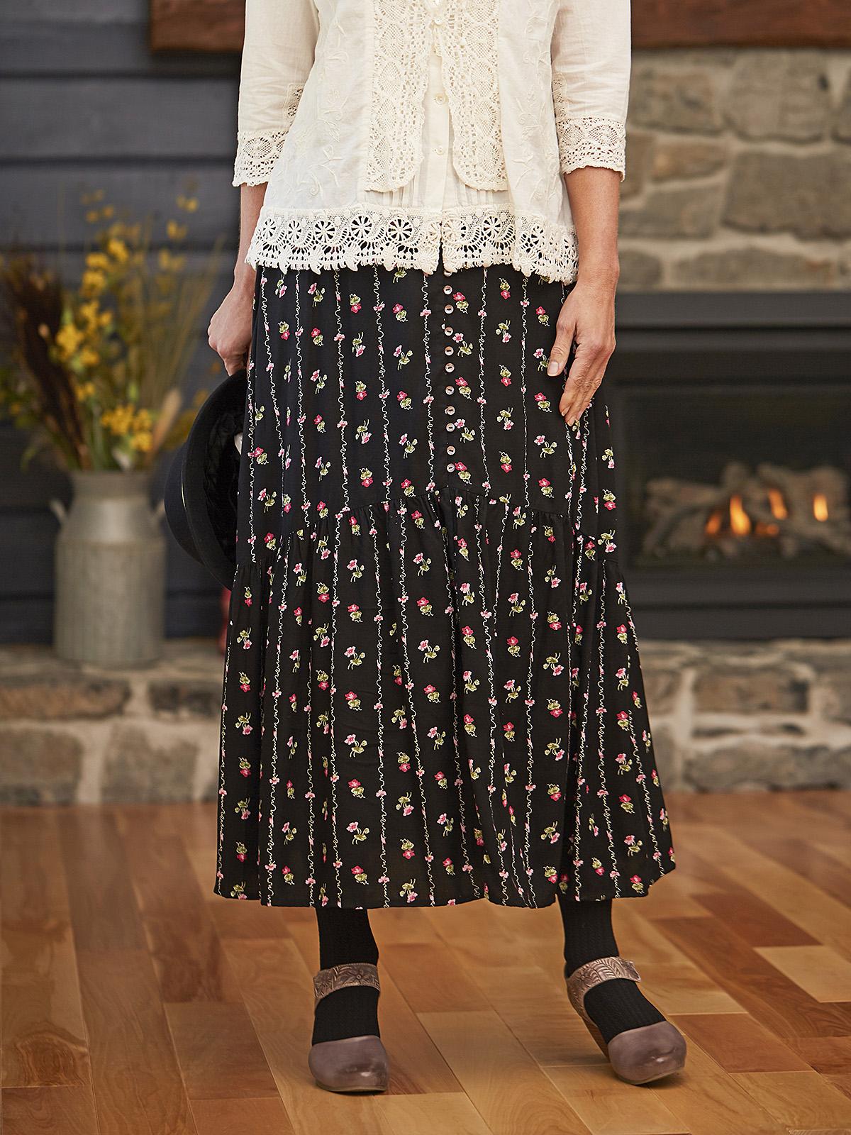 Flower Script Skirt