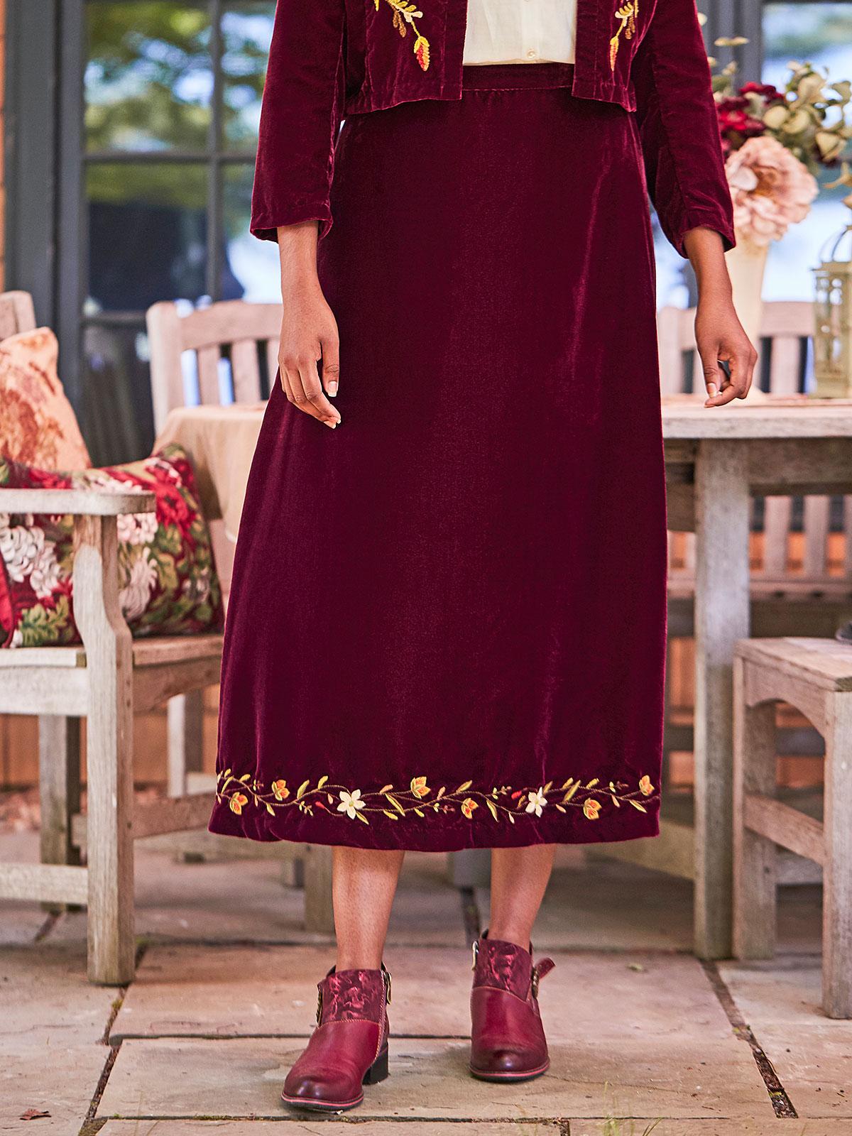 Francesca Velvet Skirt