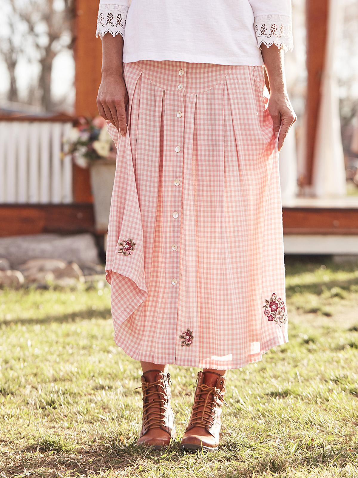 Julianna Check Skirt