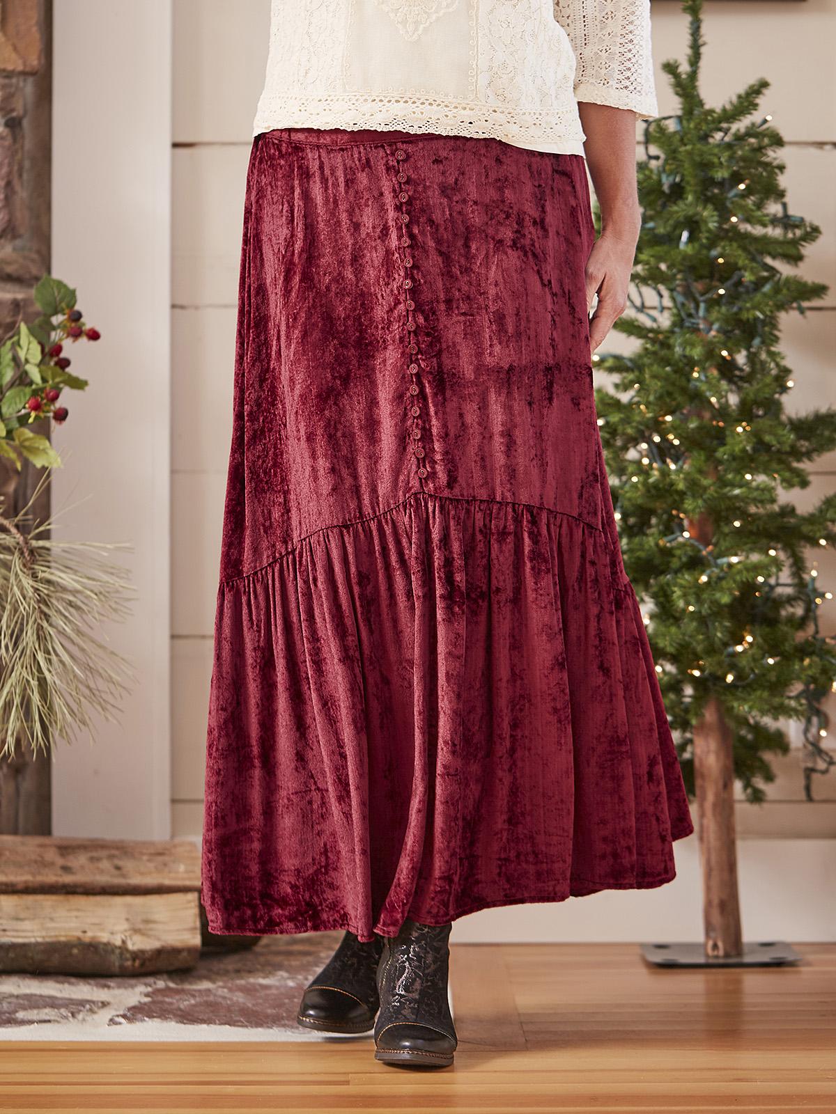 Soiree Velvet Skirt