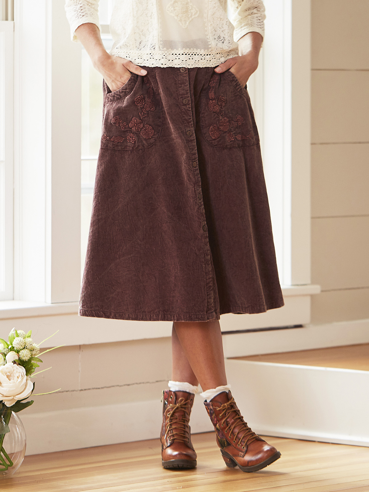 Jessa Corduroy Skirt