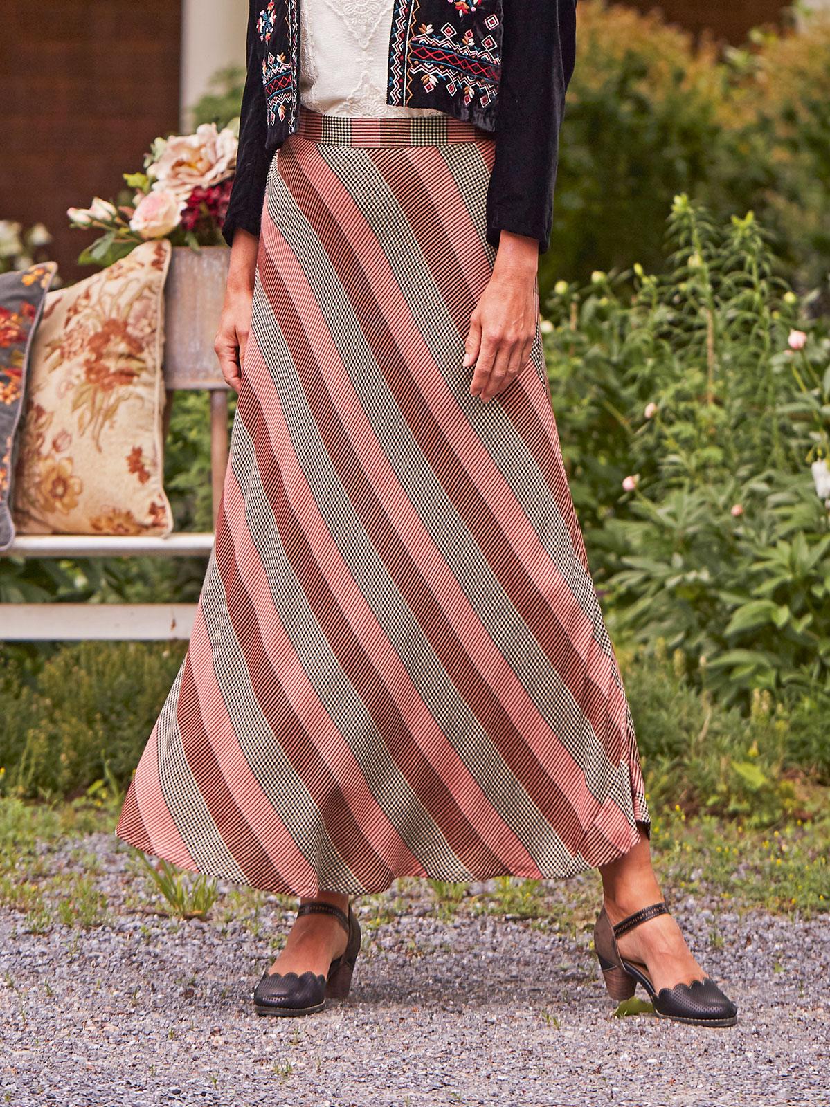 Rosewood Check Skirt
