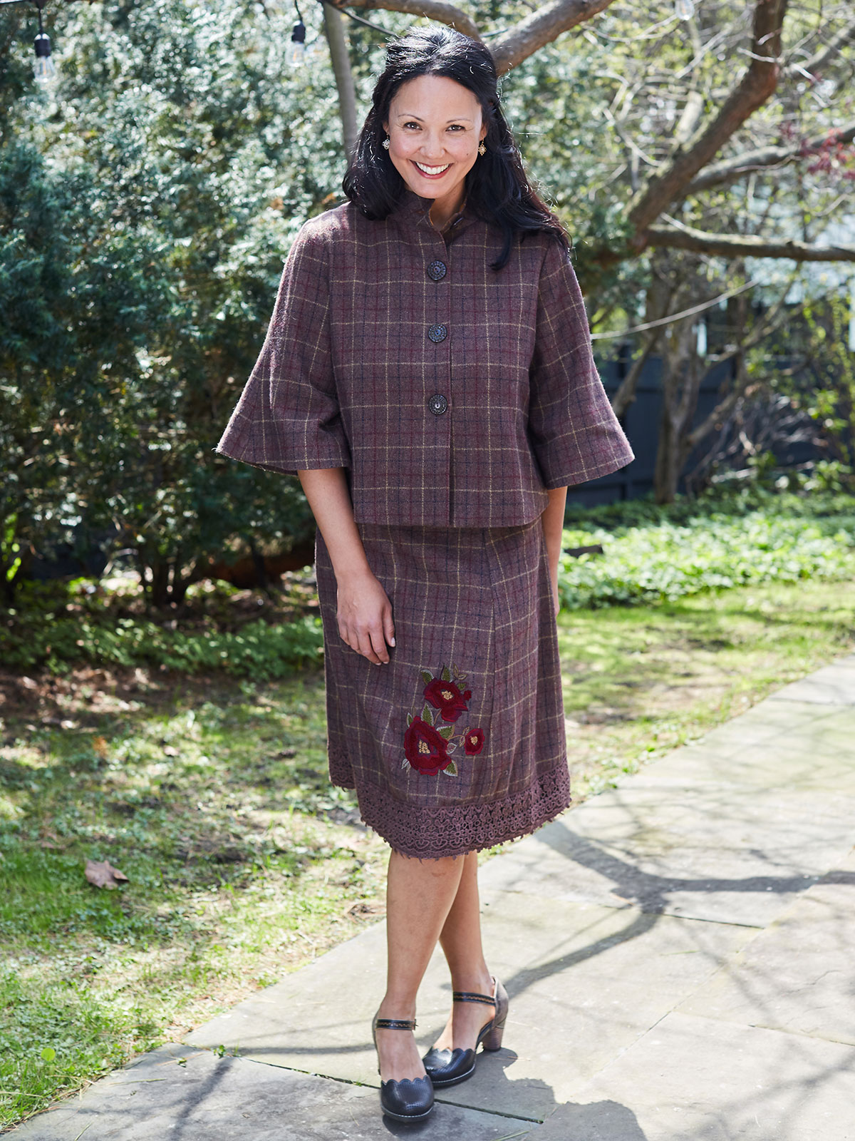 Nutmeg Plaid Skirt