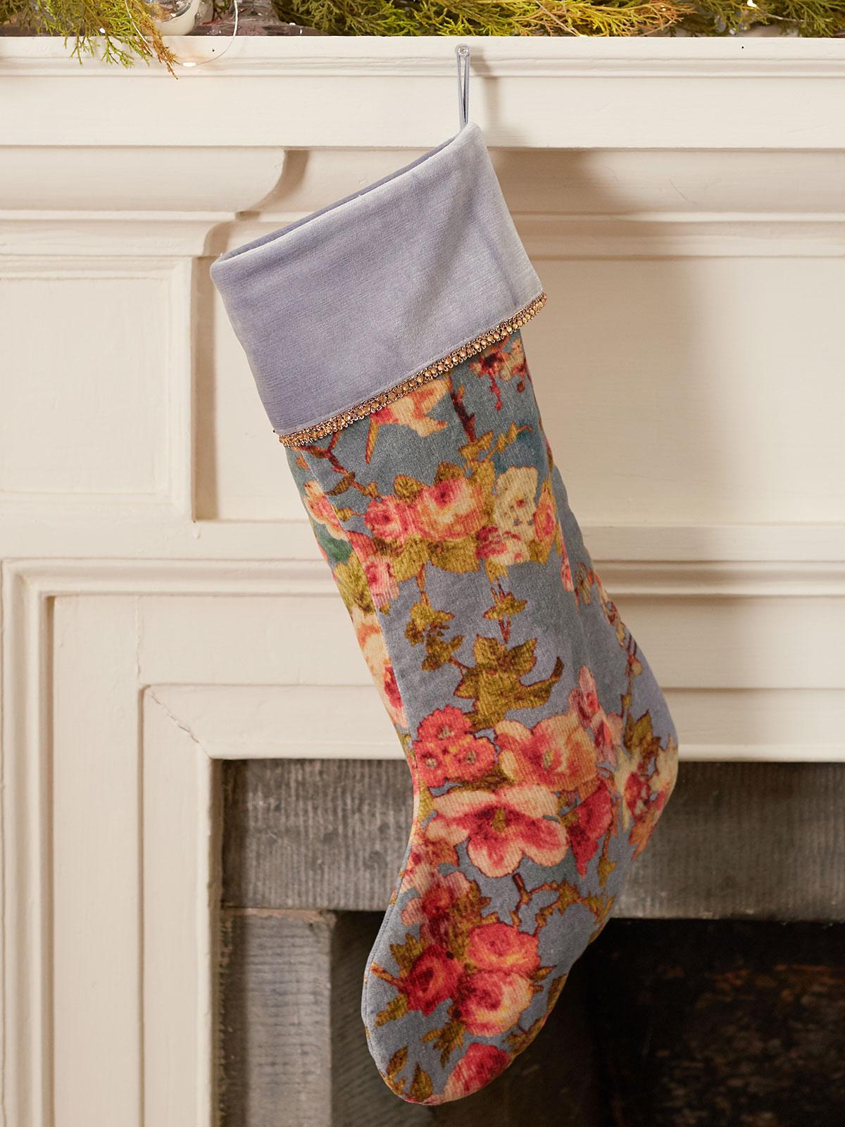 English Garden Velvet Stocking