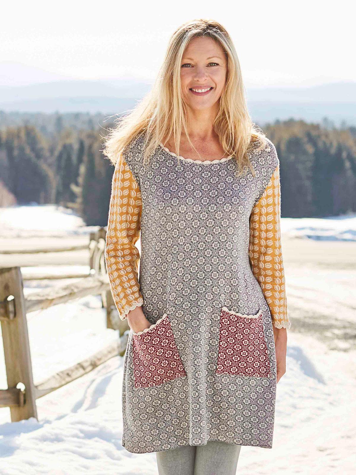 Alpine Patchwork Tunic Sweater