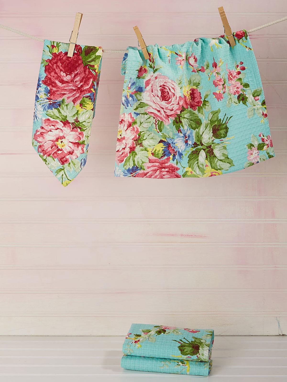 Cottage Rose Tiny Towel Set of 4