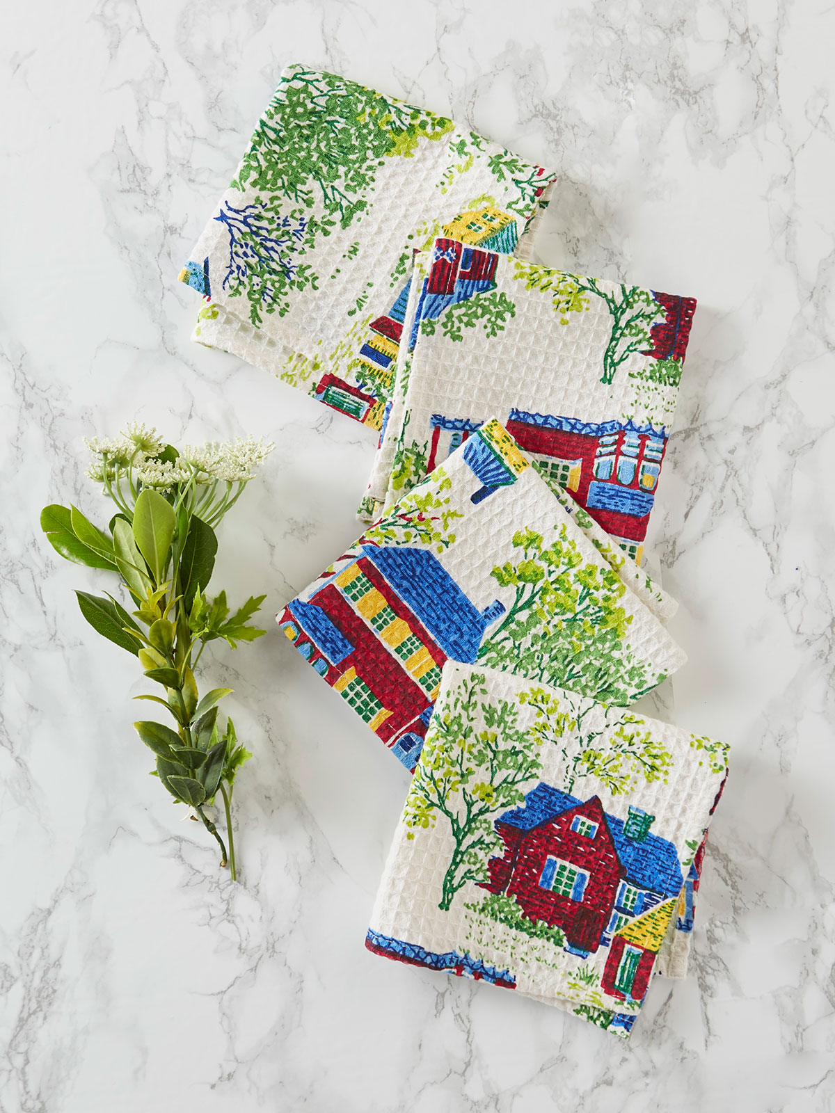 Vermont Village Tiny Towel Set of 4