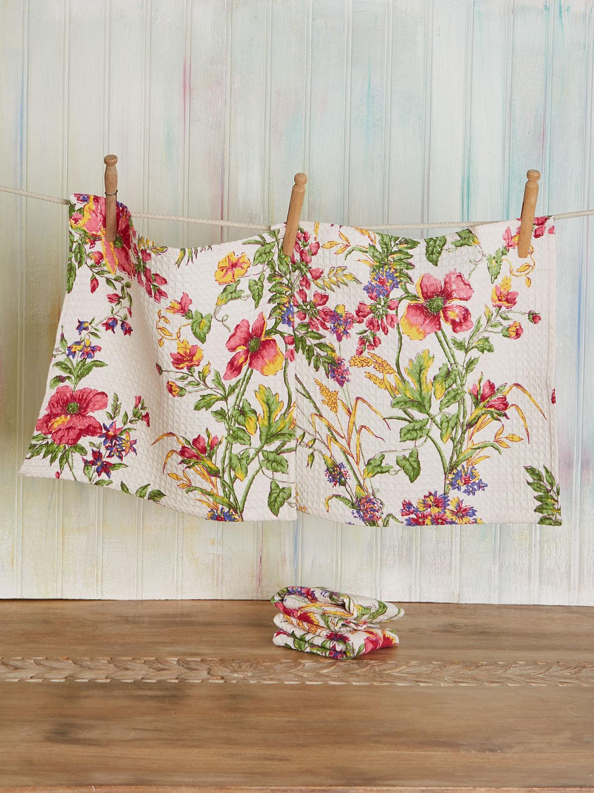 Wildflower Meadow Tiny Towel Set of 4