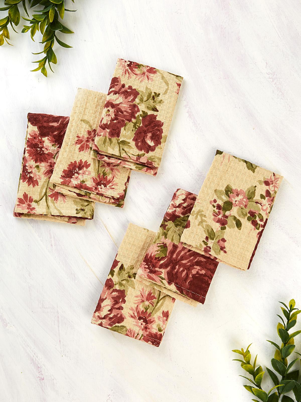 Cottage Rose Honeycomb Tiny Towel Set of 6