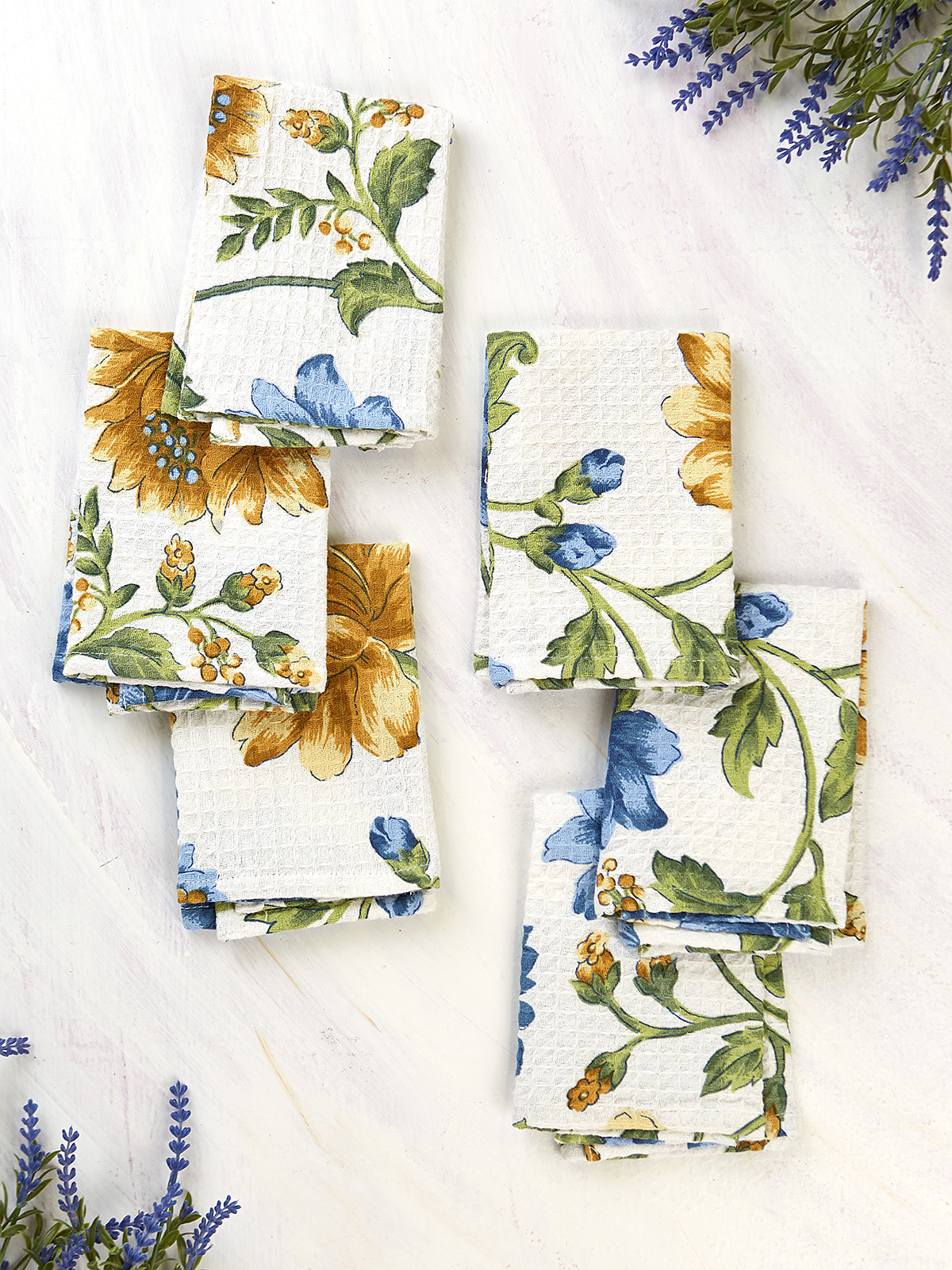 Rosehip Honeycomb Tiny Towel Set of 6