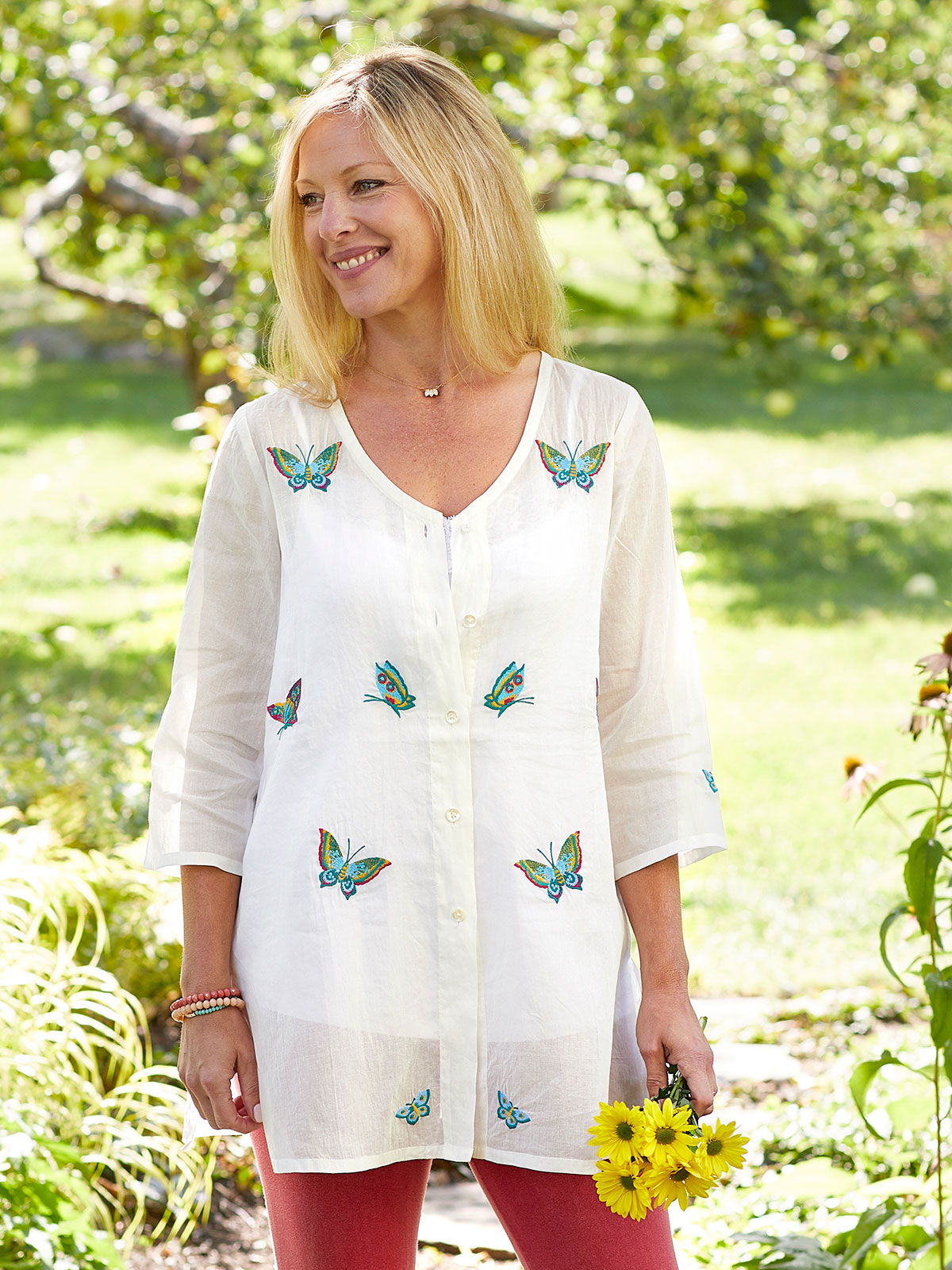 Butterfly Organdy Tunic