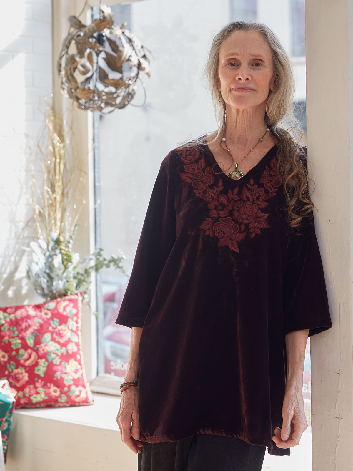 Jewel Velvet Tunic