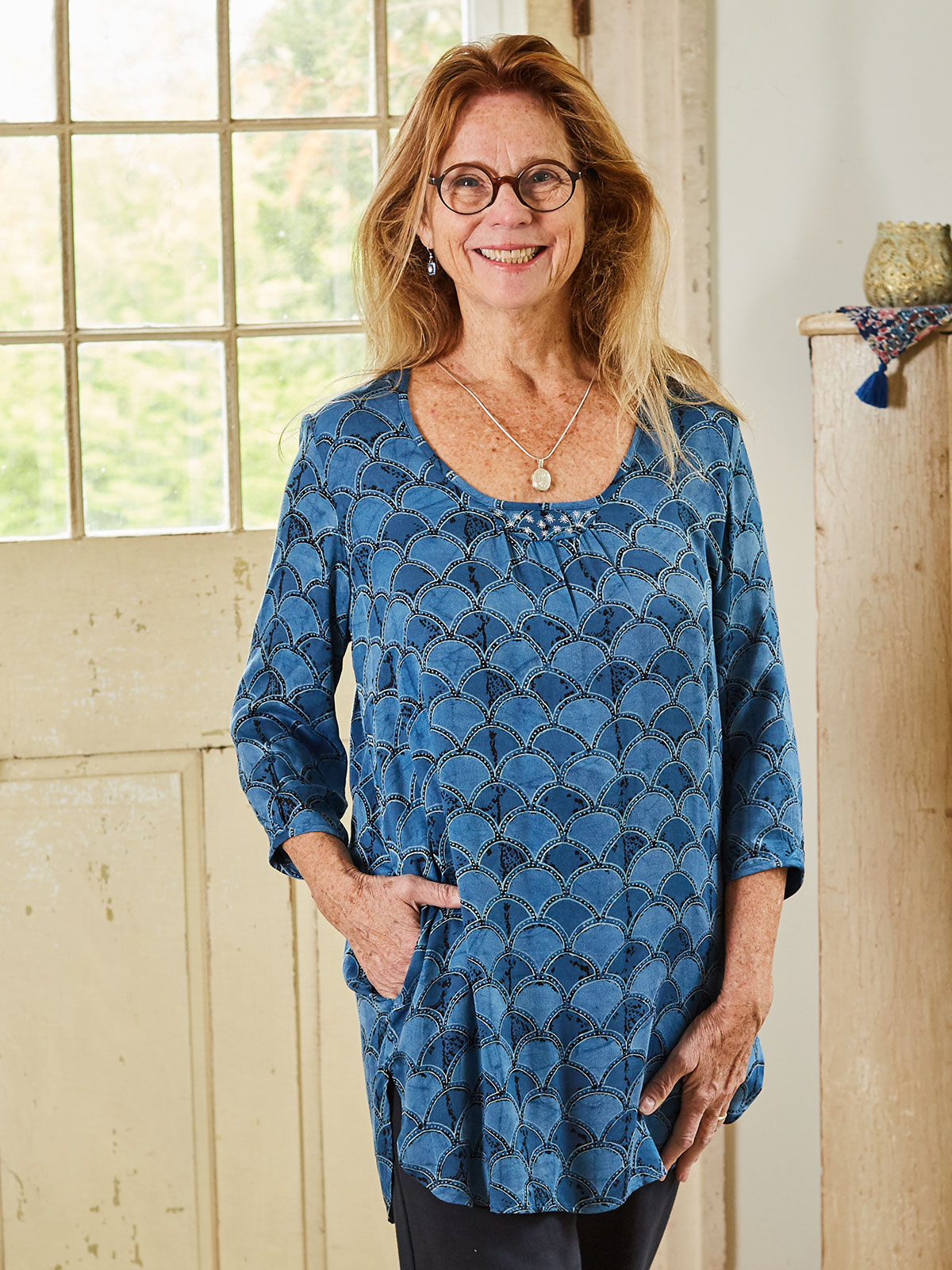Indigo Cloud Tunic