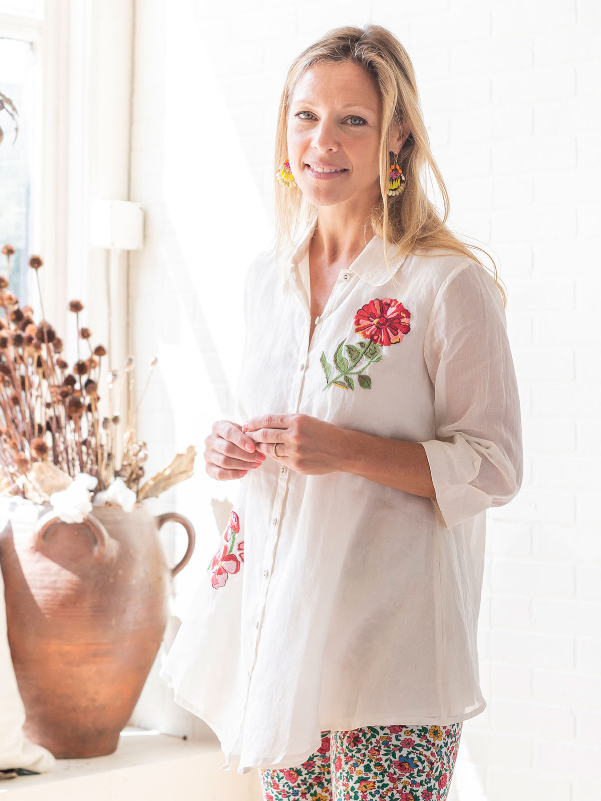 Artful Blossoms Tunic