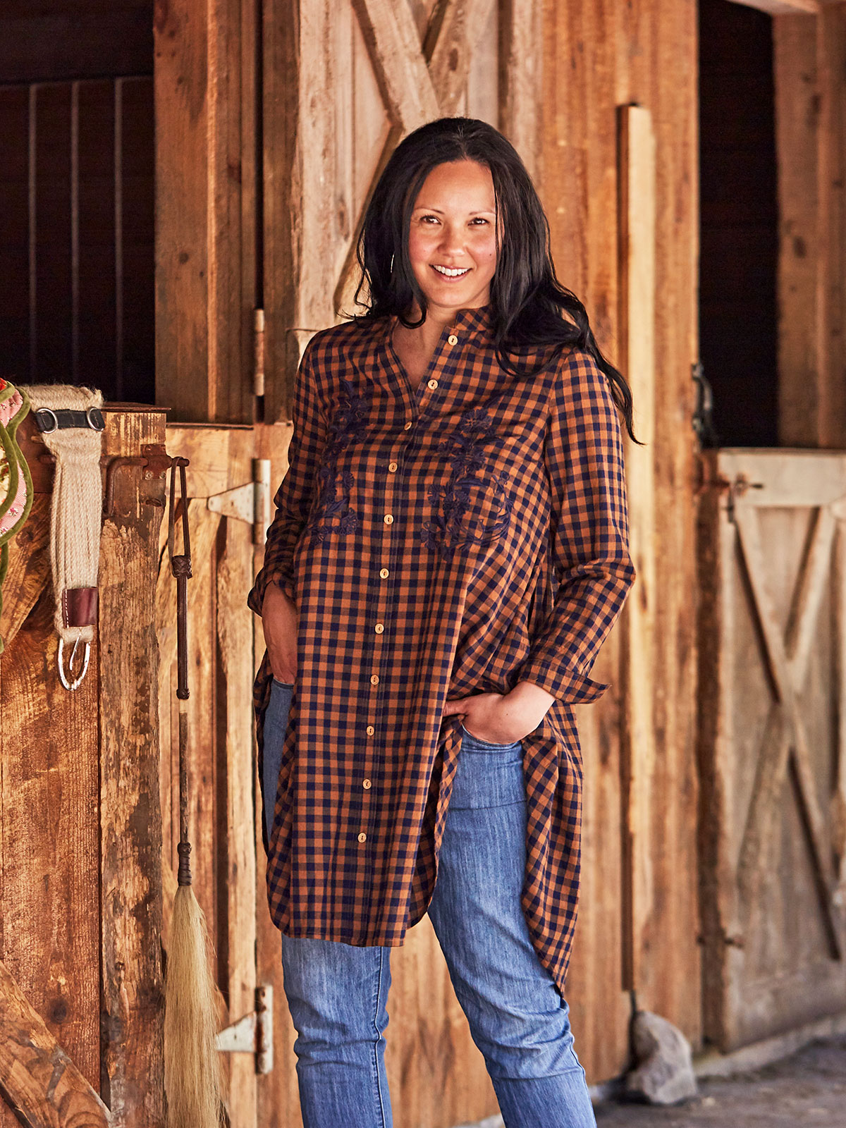 Cowgirl Check Tunic