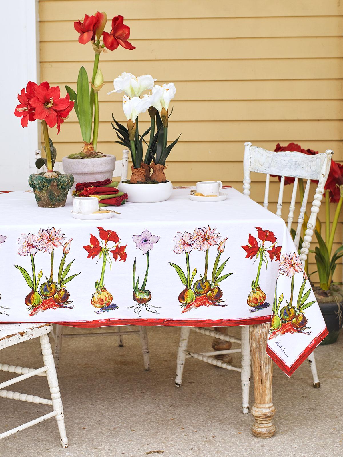 Amaryllis Tablecloth
