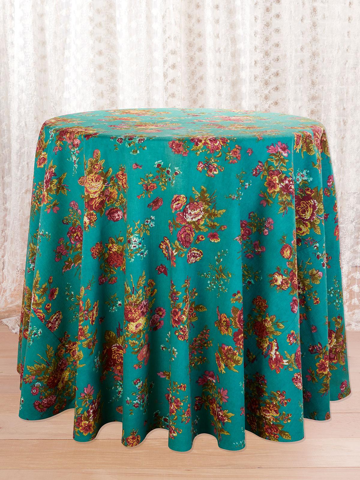 Artist Garden Round Tablecloth