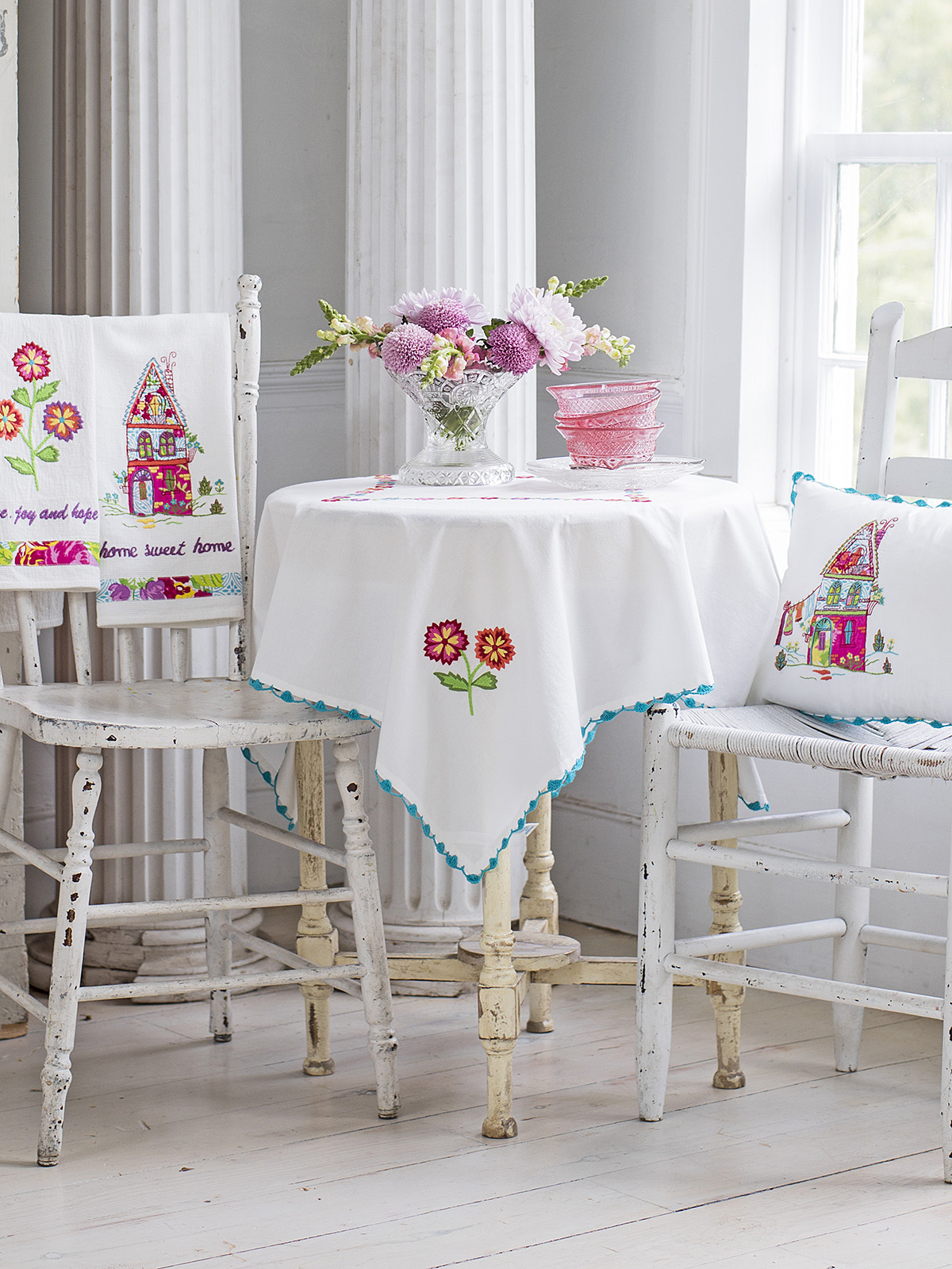 Fiesta Garden Embroidery Tablecloth