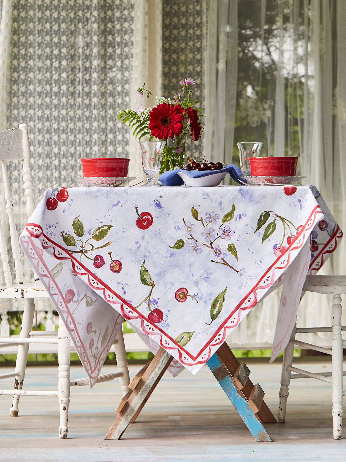 Cherries Tablecloth