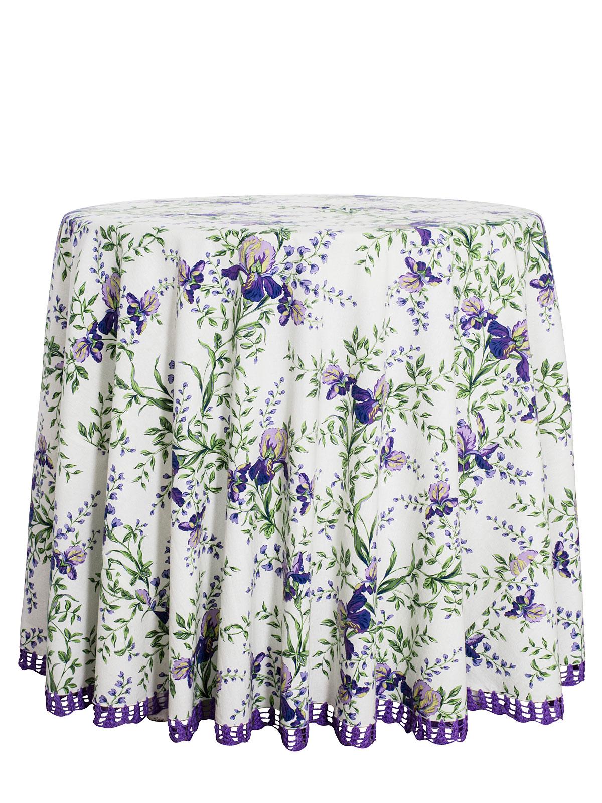 Irresistible Iris Crochet Round Tablecloth Linens Kitchen