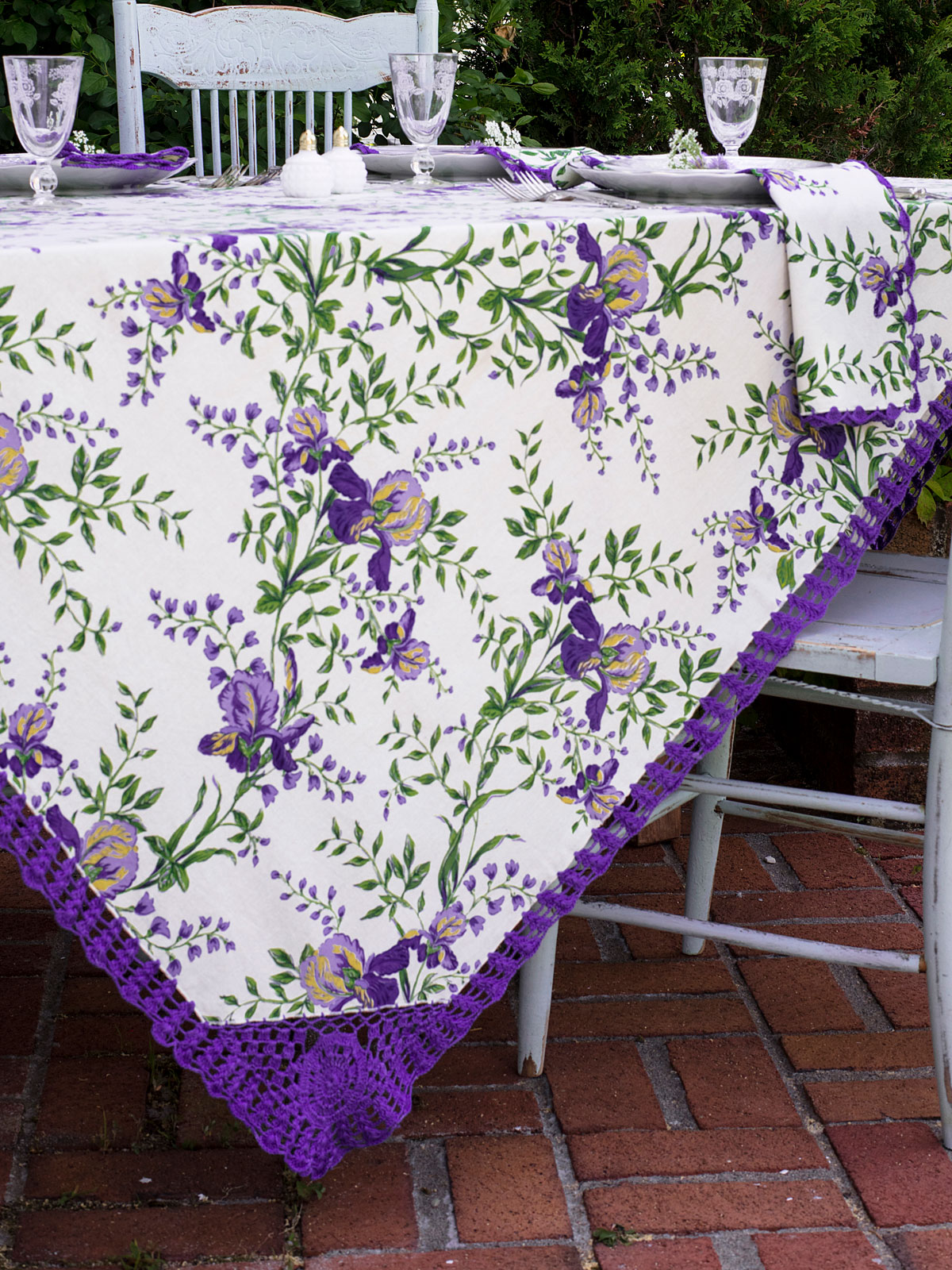 Irresistible Iris Crochet Tablecloth