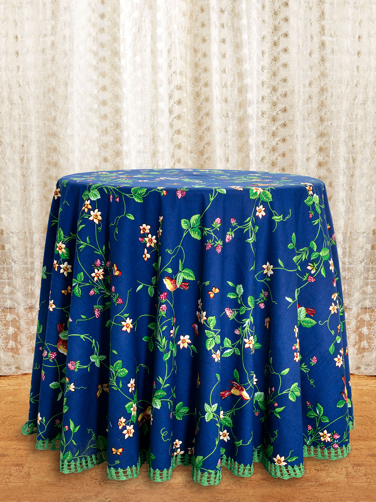 Strawberry Fields Crochet Round Tablecloth