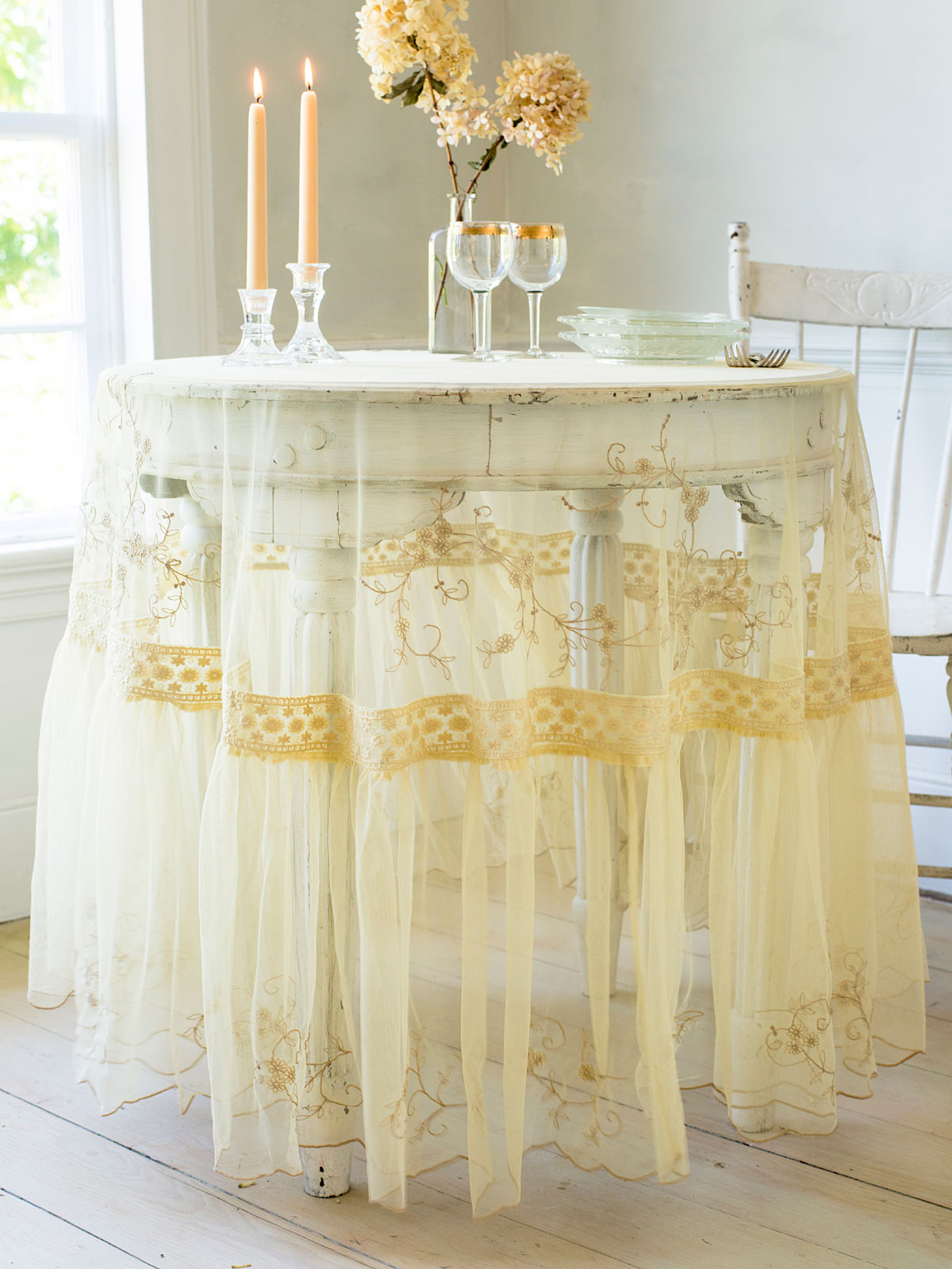 Beloved Embroidered Tablecloth