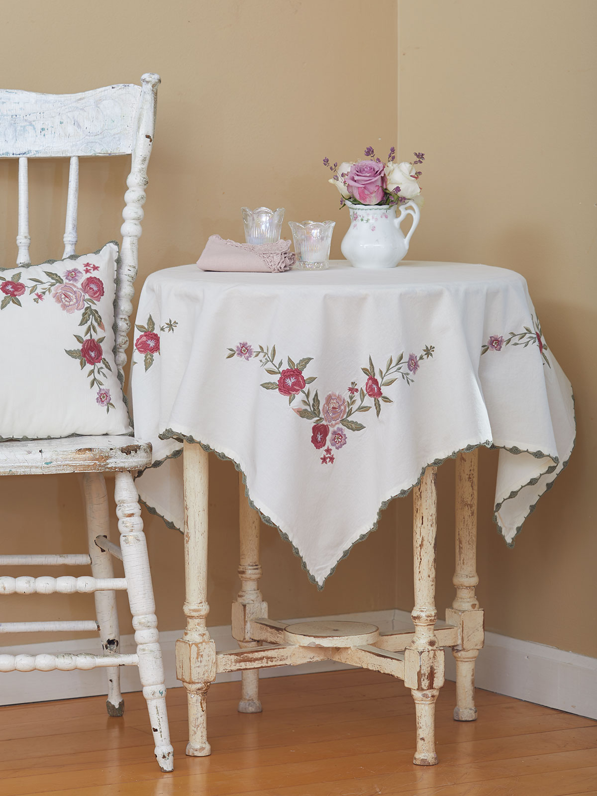 Keepsake Embroidered Tablecloth