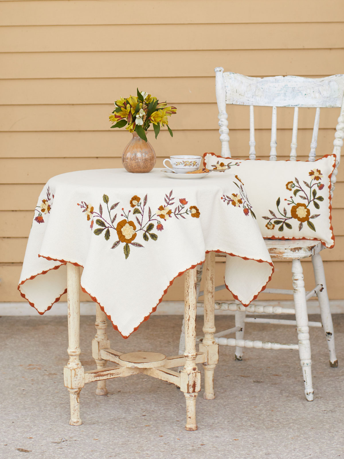 Nature's Embroidered Tablecloth