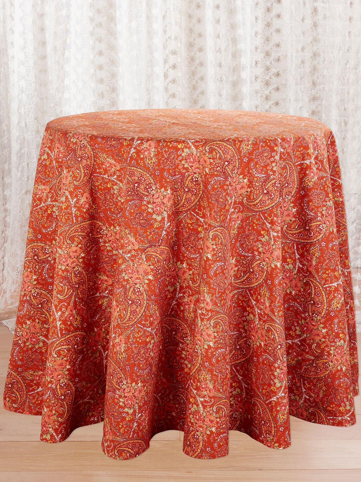 Garden Paisley Round Tablecloth