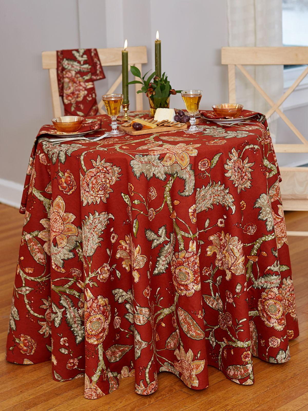 Jacobean Garden Round Tablecloth