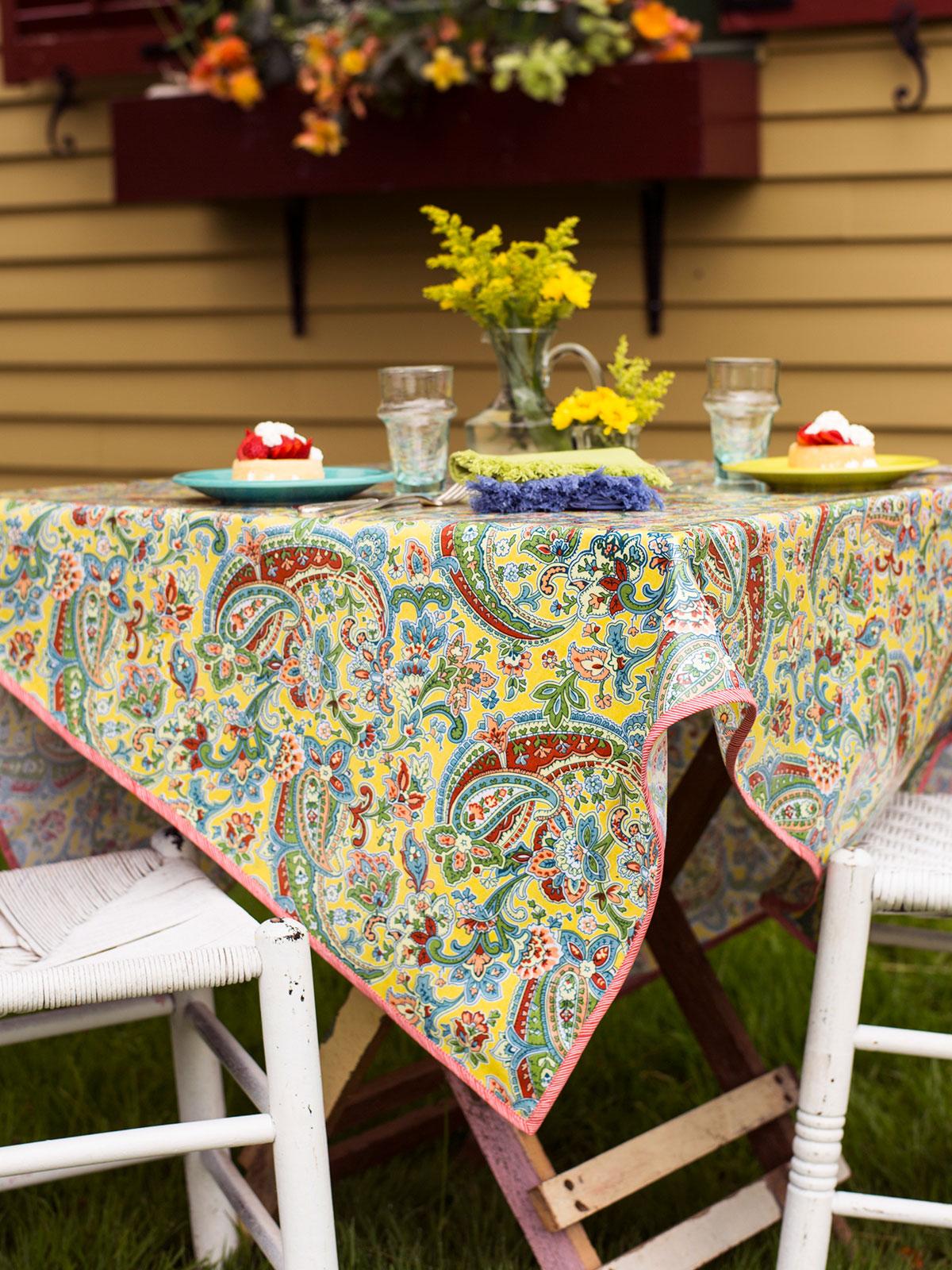 Priscilla's Paisley Oilcloth
