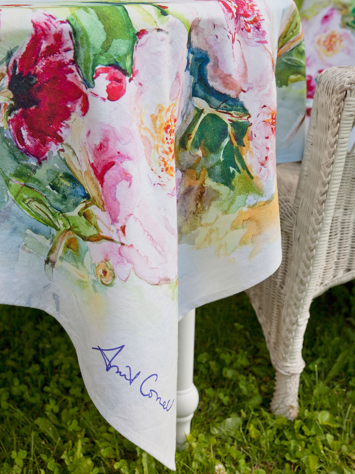 Peony Watercolor Tablecloth Kitchen Amp Table Linens