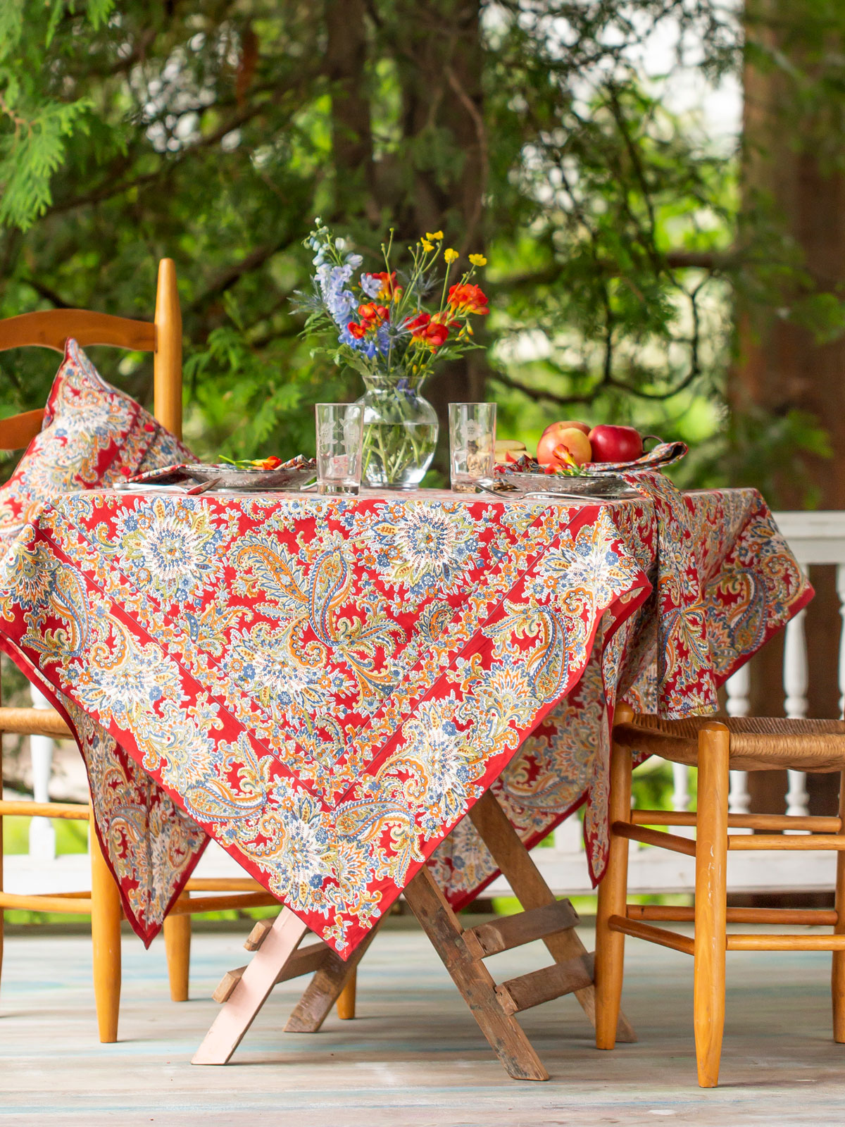 Rhapsody Paisley Tablecloth