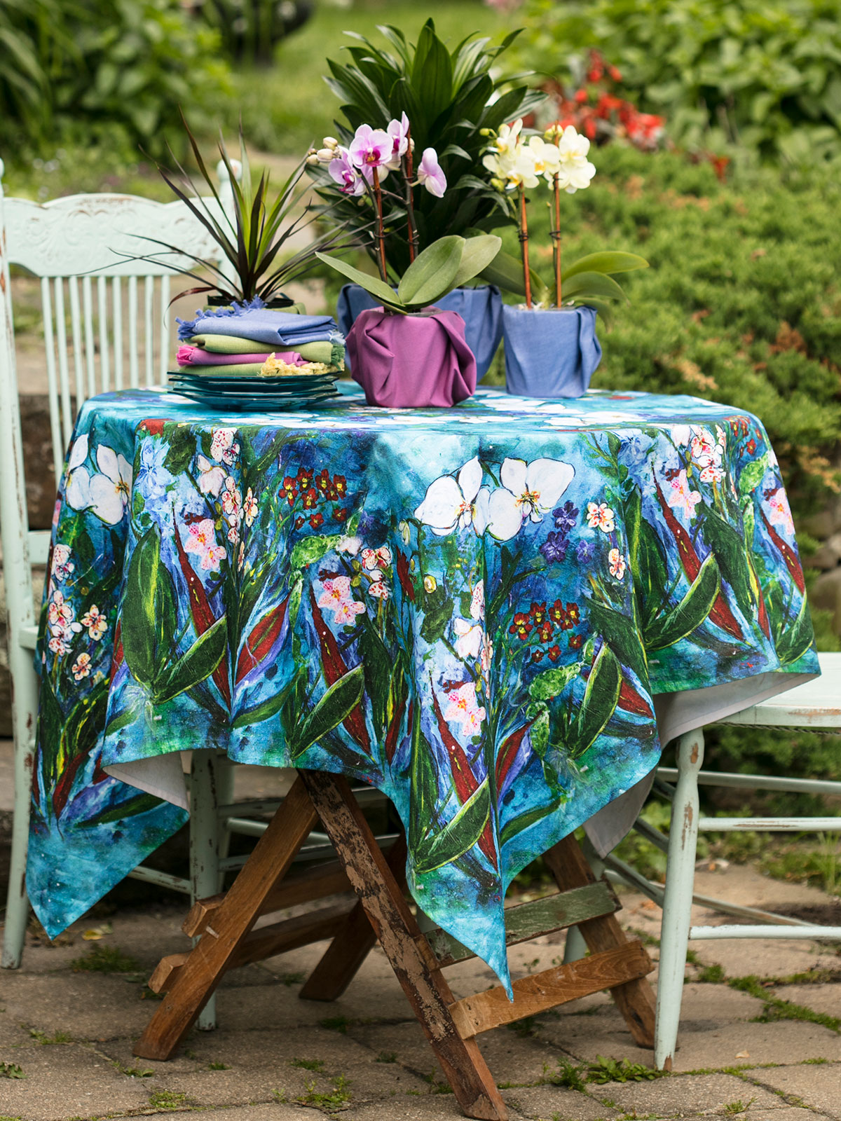 Rainforest Orchid Tablecloth