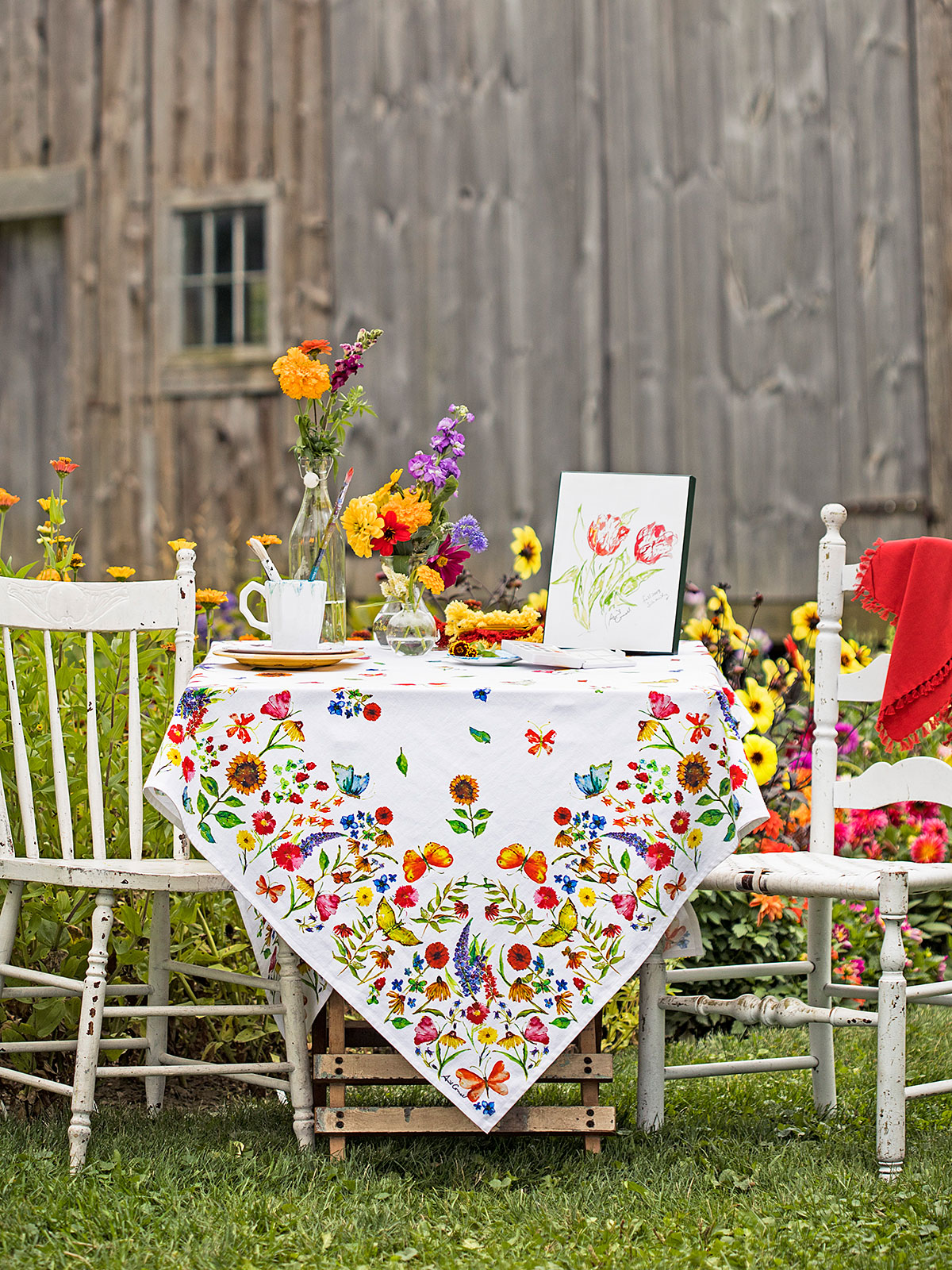 Sister Garden Tablecloth