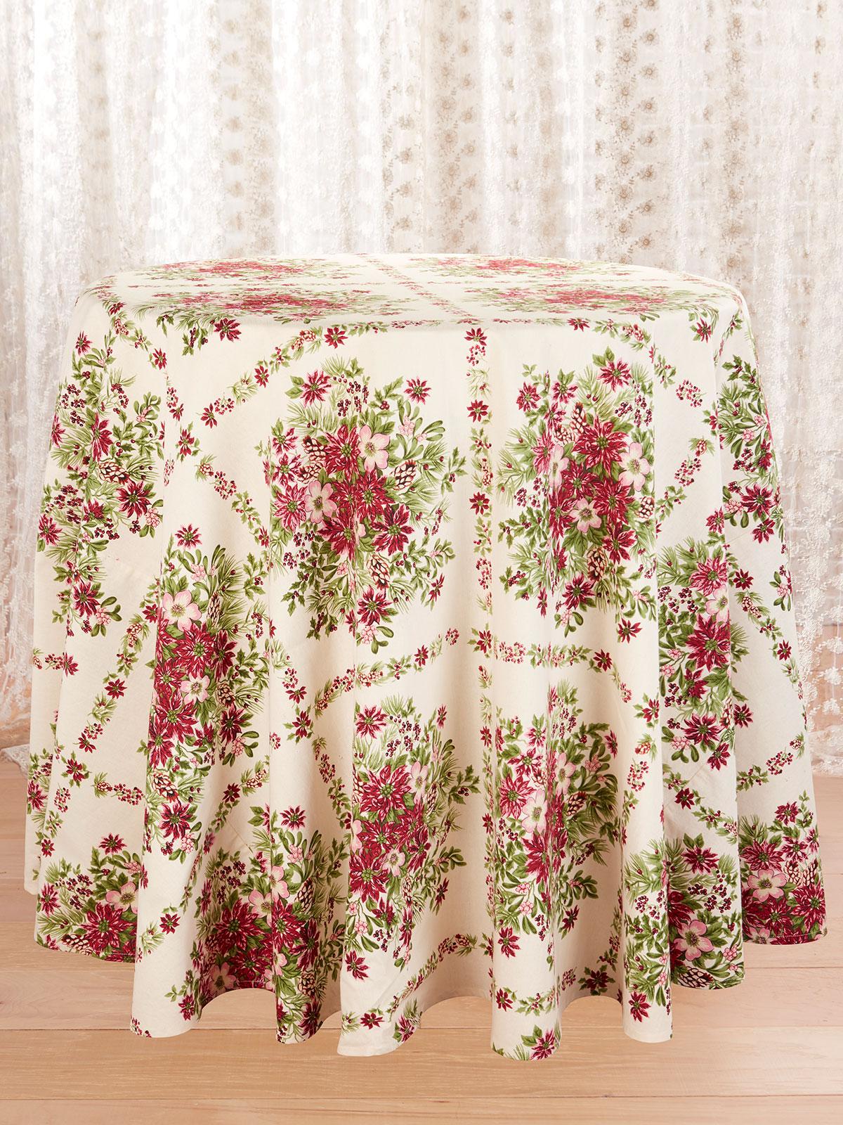 Tis the Season Round Tablecloth