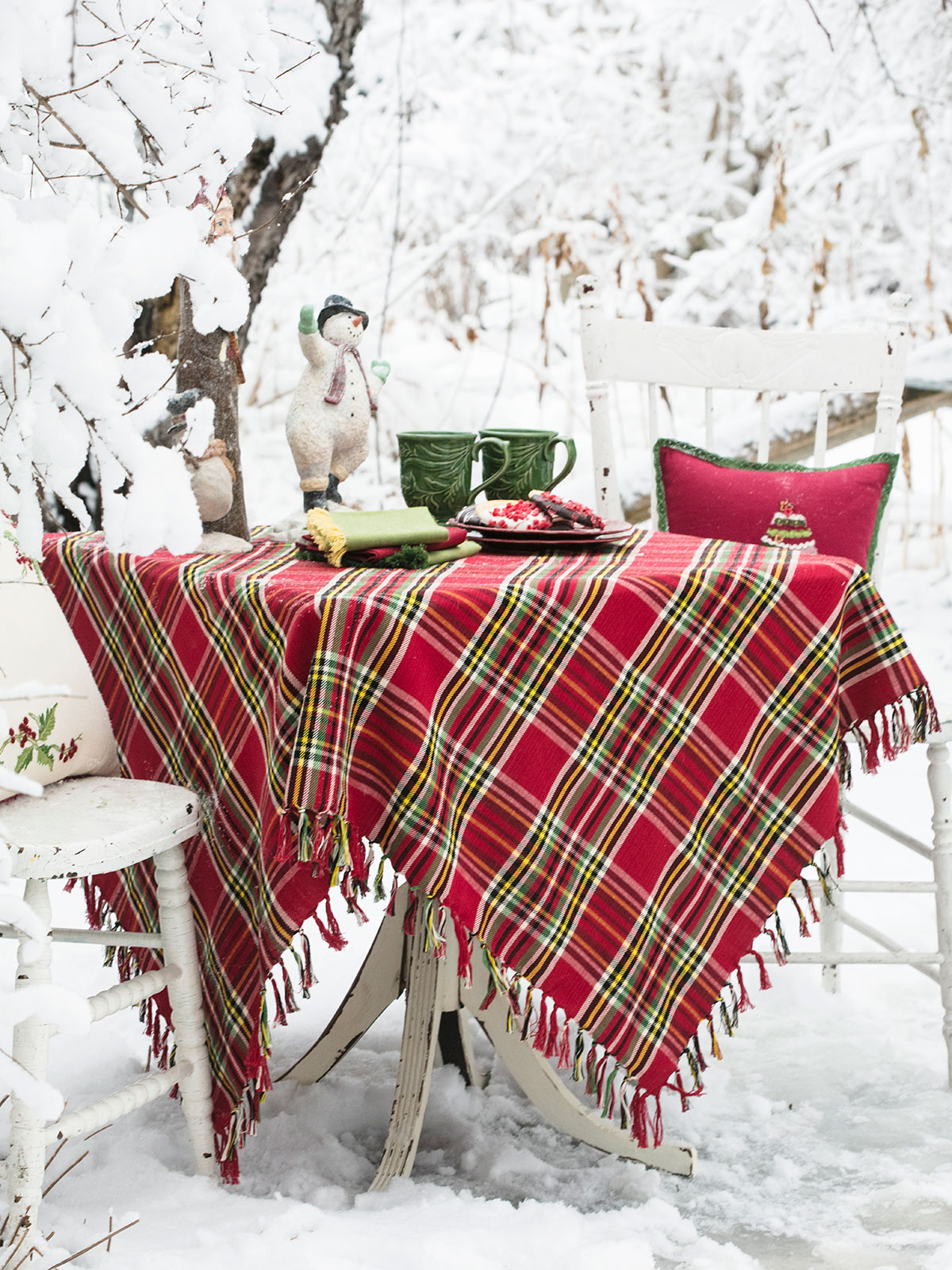 Fireside Tartan Plaid Tablecloth