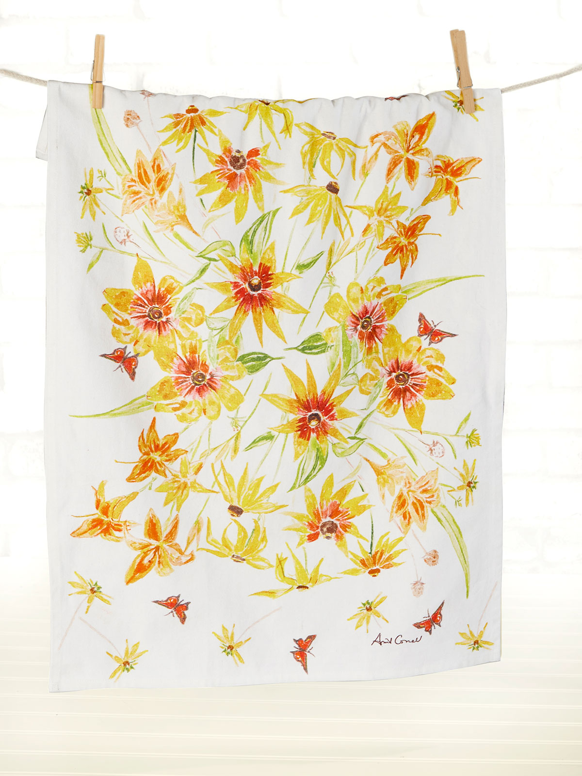 Black Eyed Susan Tea Towel