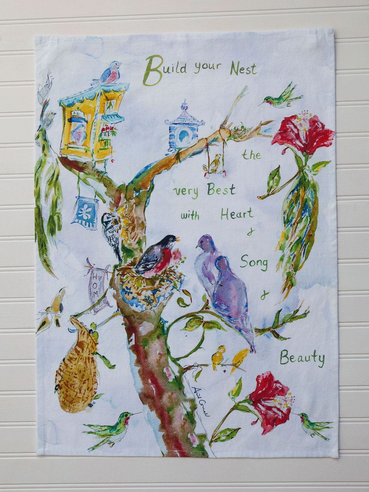 Build Your Nest Tea Towel