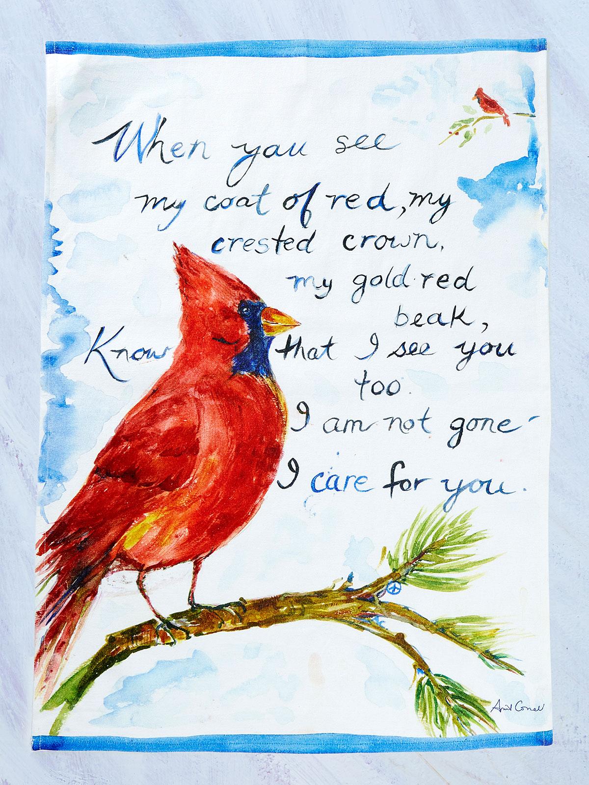 Cardinal Tea Towel