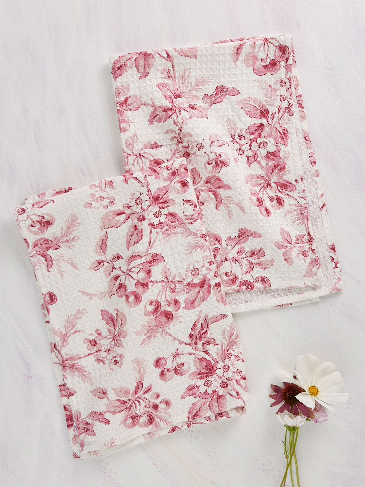Cherry Blossom Tea Towel Set of 2