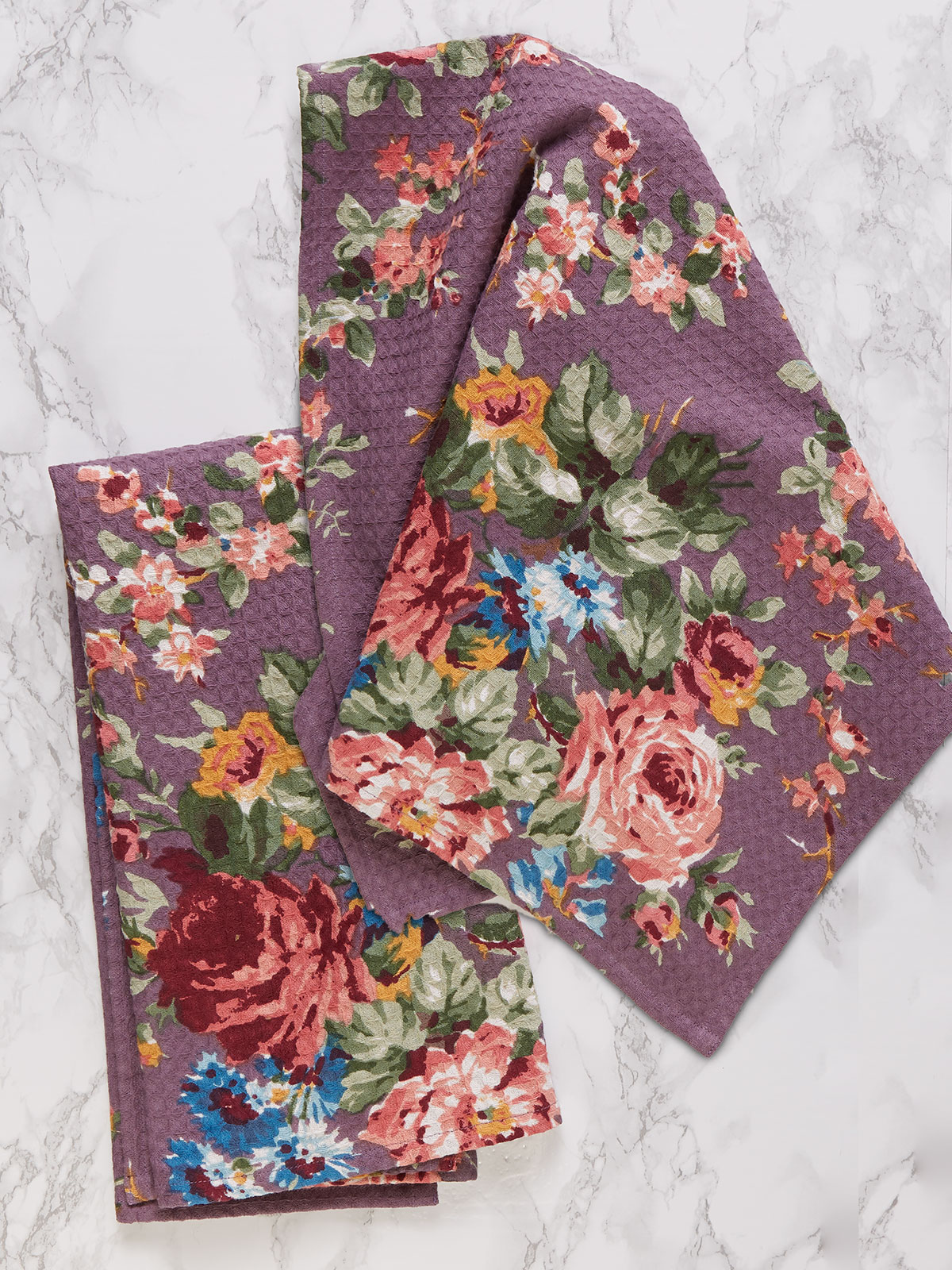 Cottage Rose Tea Towel S/2