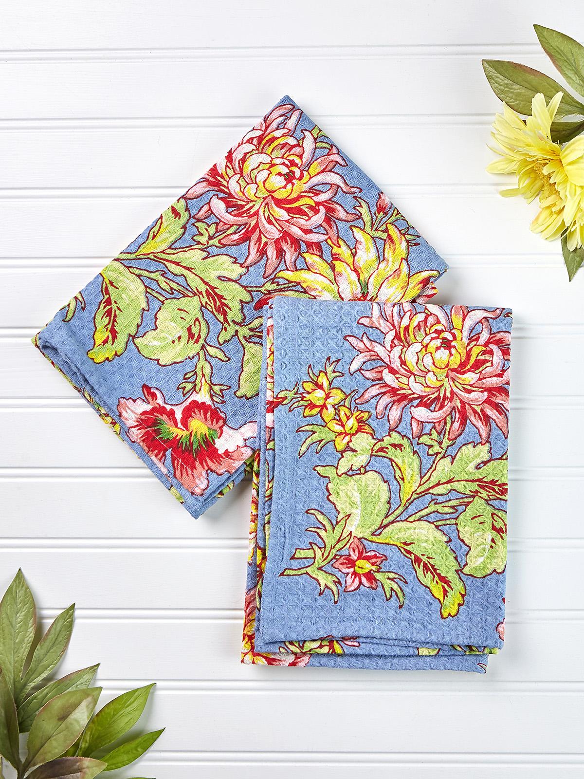 Dahlia Days Tea Towel Set of 2
