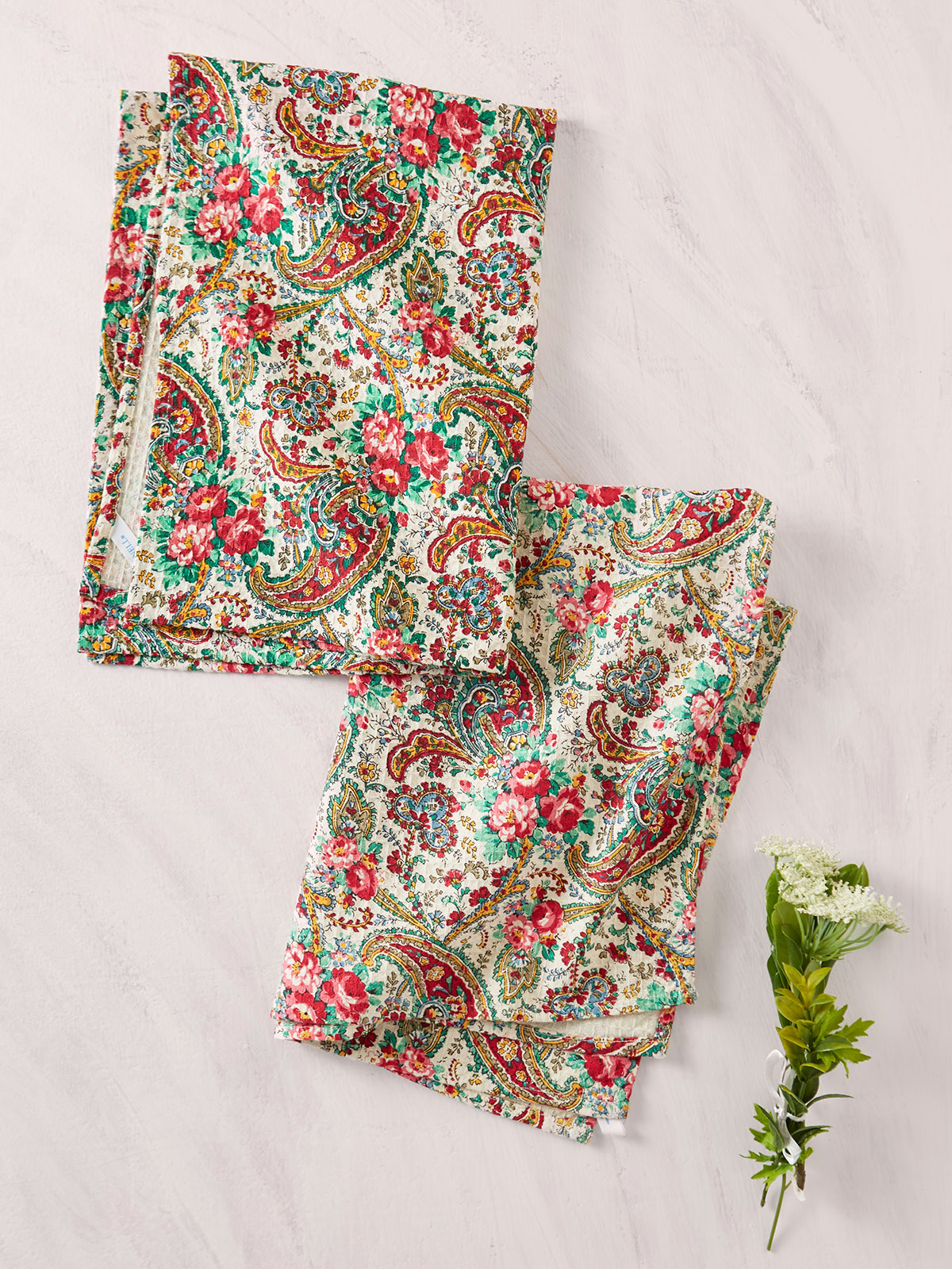Garden Paisley Tea Towel Set of 2